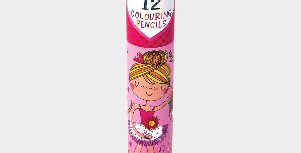 Rachel Ellen Colouring Pencils Ballerinas Style Code COLPEN2