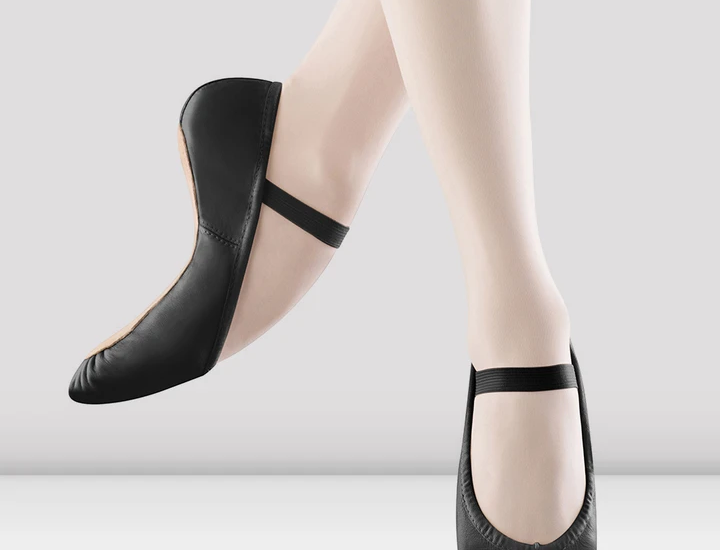 Bloch Dansoft Childrens Black Leather Ballet Shoes Style Code S0205G Black