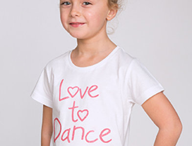 Little Ballerina  Love to Dance T shirt Style Code T001/W