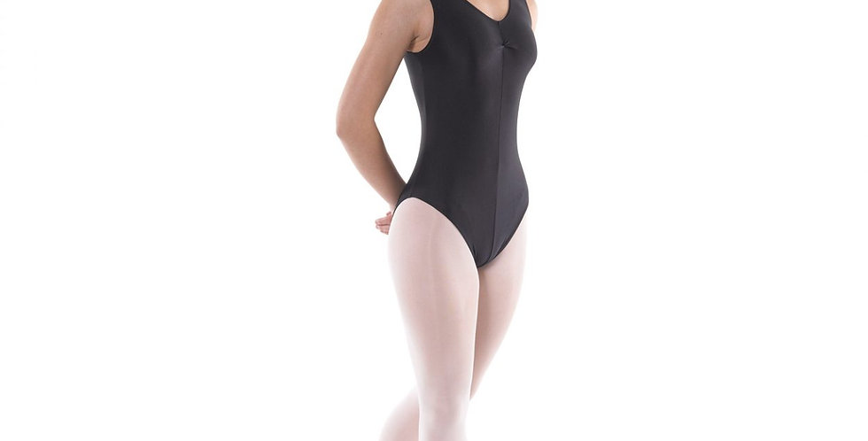 Tappers and Pointers Sleeveless Ruche Front Leotard   Style Code Leo/2 Black