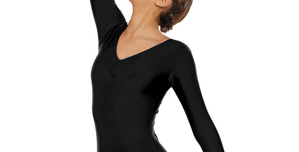 Tappers and Pointers Long Sleeved Ruche Front Leotard Style Code Leo/4