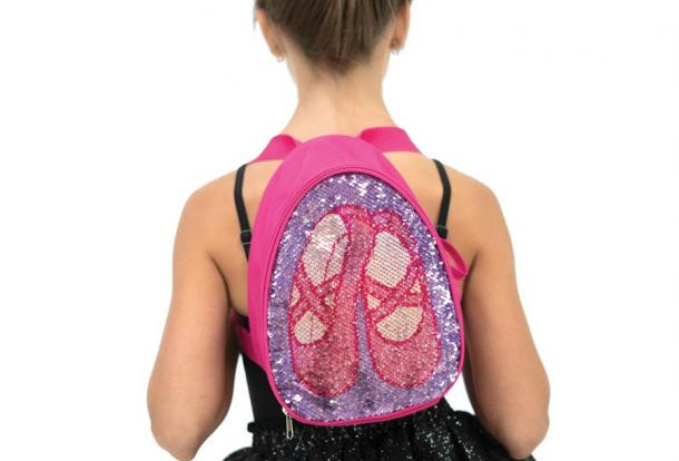 Capezio Reversible Glitter Backpack   Style Code B222C