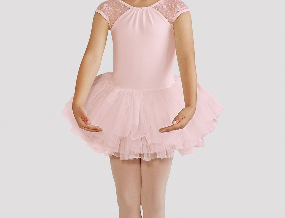 Bloch Childrens Elenore Bow Mesh Tutu Leotard Style Code CL8212