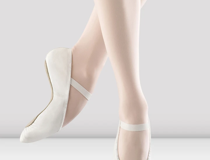 Bloch Dansoft Adults White Leather Ballet Shoes Style Code S0205L White