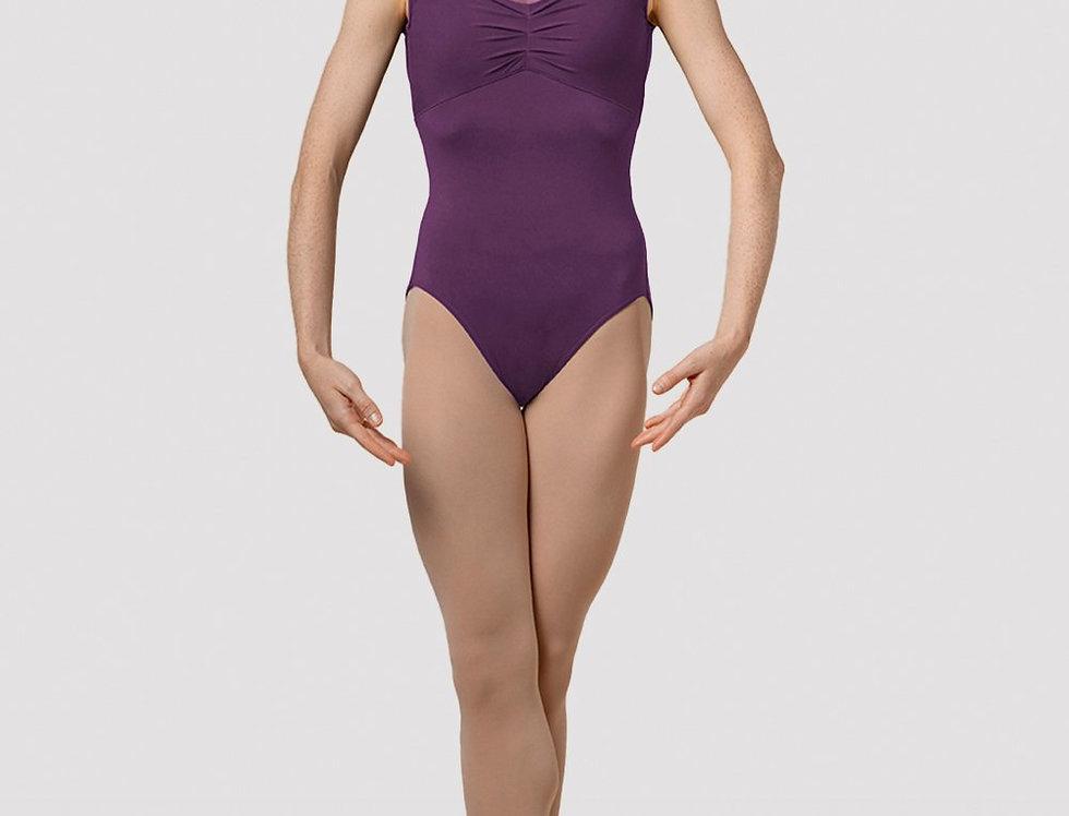 Mirella Ladies Splice Cap Sleeve Leotard Style Code M5092LM Purple