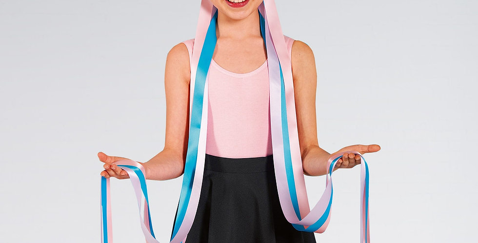 IDS Floral Long Ribbon Headdress Pastel  Style Code UA577A