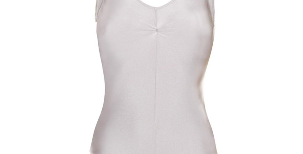 Tappers and Pointers Sleeveless Ruche Front Leotard  Style Code Leo/2 White