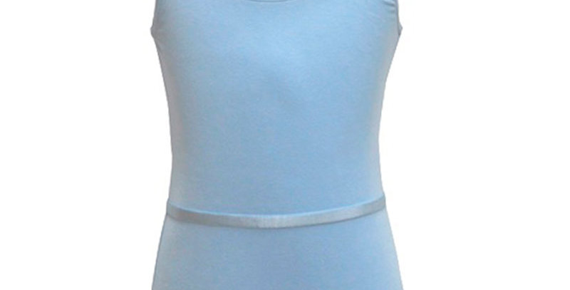 Freed Aimee Cotton Sleeveless Leotard   Style Code Aimee/C Pale Blue