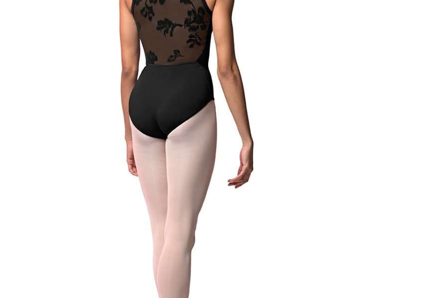 Bloch Adults Black Rose Mesh Back Camisole Leotard Style Code M2159LM