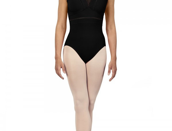 Bloch Adults Zahra V Neckline Mesh Back Tank Leotard Style Code L4912