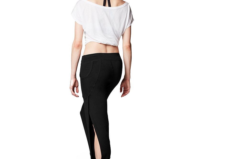 Bloch Adults Harem Pant With Side Split   Style Code FP5054