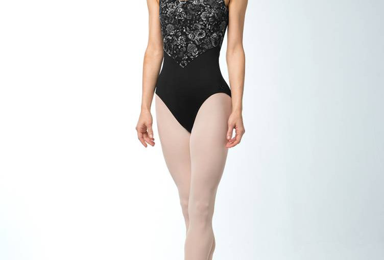 Bloch Adults Cross Back Floral Mesh Leotard Style Code L9875
