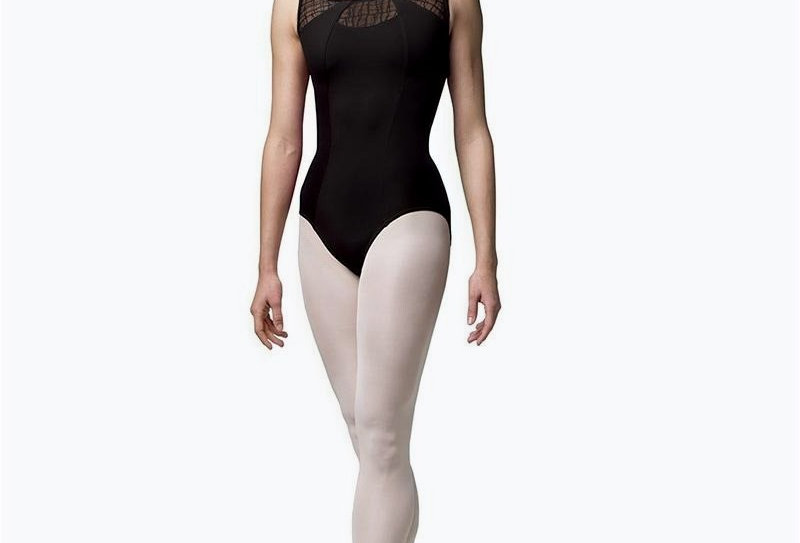 Bloch Adults Sena Check Mesh Scoop Back Tank Leotard  Style Code  L4815