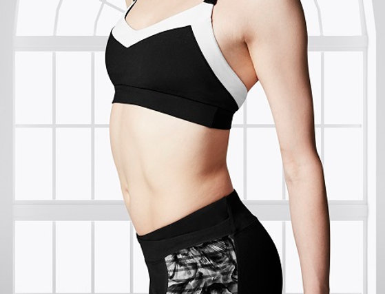 Bloch Adults 2 Tone V-Strap Crop Top     Style Code FT5051