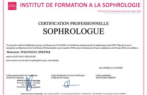 Diplôme Sophrologue