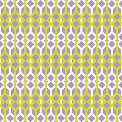 Lattice Fabric Purple & Lime