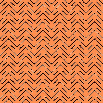 Herringbone Fabric Orange