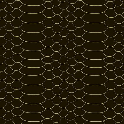 Snakeskin Black & Gold