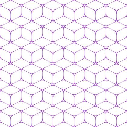 Cubism Fabric Purple