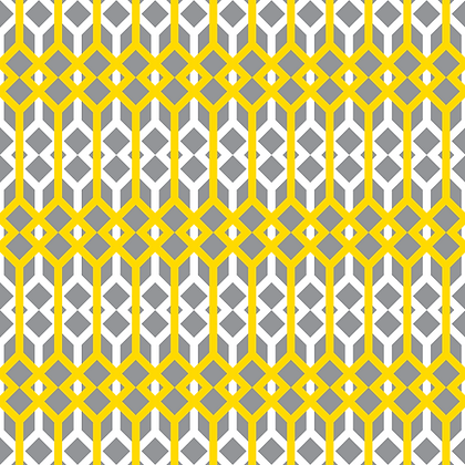 Lattice Fabric Yellow & Grey