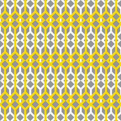 Lattice Yellow & Grey