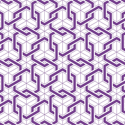 Links Fabric Purple