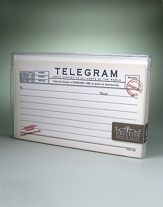 Telegram Invitation Boxed Notes