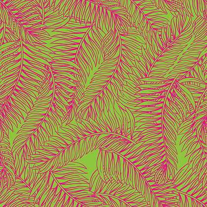 Palm Tree Pink & Green