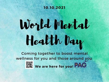 World Mental Health Day 10 Oct 2021