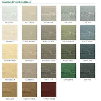 James Hardie Color Options