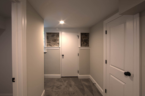 Hallway to Basement Bedroom