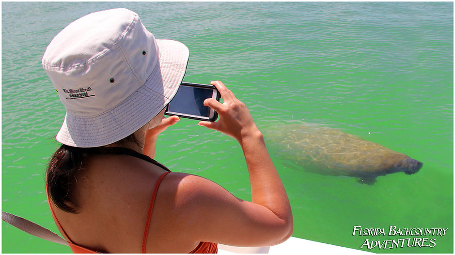 Manatee Boat Tours with Florida Saltwater Adventures Marco Island