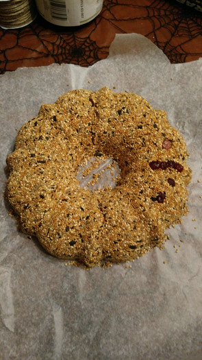 Working on Birdseed Wreath-Club Workshop