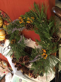 Members made Wreaths for Birds