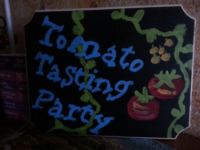 Tomato Tasting Party-Don't miss this fun!