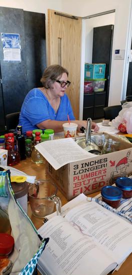 Susan Prepping Food-Canning Workshop