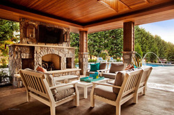 Stone Fireplace & Outdoor Patio