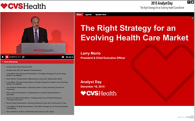 2015 CVS Analyst Day The Right Strategy for an Evolving Health Care Market