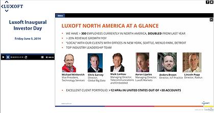 Luxoft Inaugural Investor Day