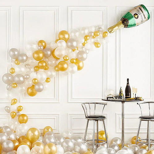 AIR-FILLED CHAMPAGNE BOTTLE BALLOON KIT