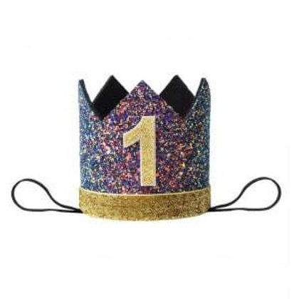 FIRST BIRTHDAY CROWNS & PARTY HATS