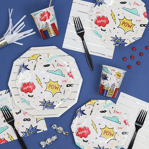 POW AND ZAP PARTY NAPKINS