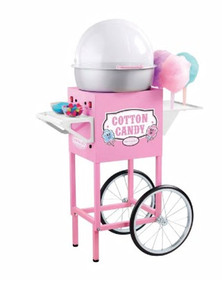 COMMERCIAL COTTON CANDY MAKER FLOSS MACHINE W/ CART STAND