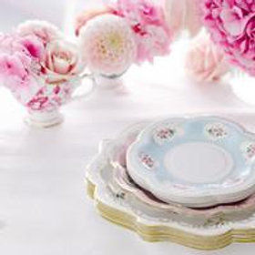 TRULY CHITNZ TEA CUP DECORATIVE PARTY PLATES