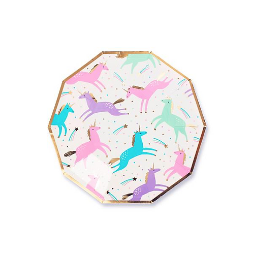 MAGICAL UNICORN DECORATIVE PARTY PLATES