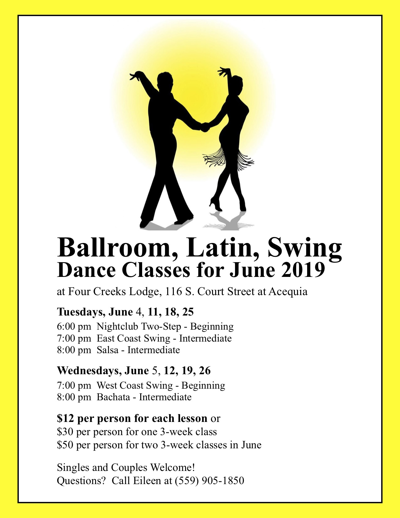 June Dance Class Schedule