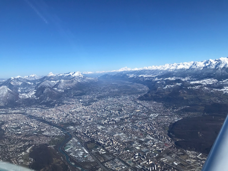 Grenoble vu du Pioneer