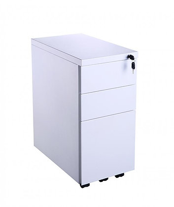 White Slimline Mobile Pedestal