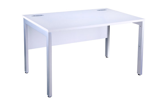 Free Standing White Bench Desk