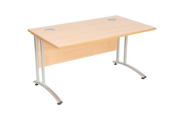Rectangular Beech Desk 1400x800